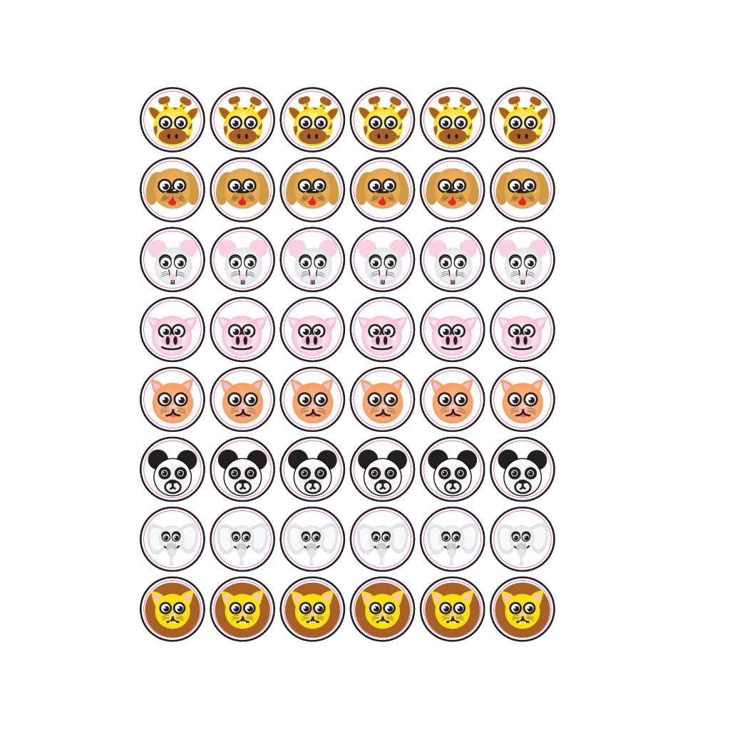 Animal Smiley Stickers