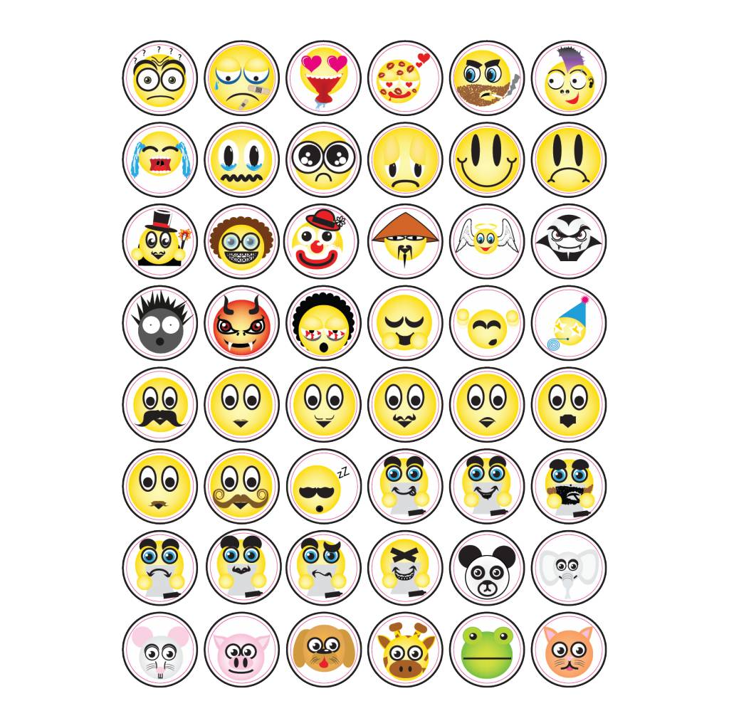 Diverse Smiley Stickers5