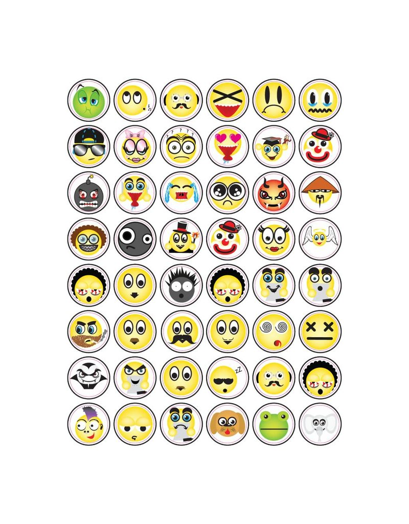 Set Smiley Sticker 4