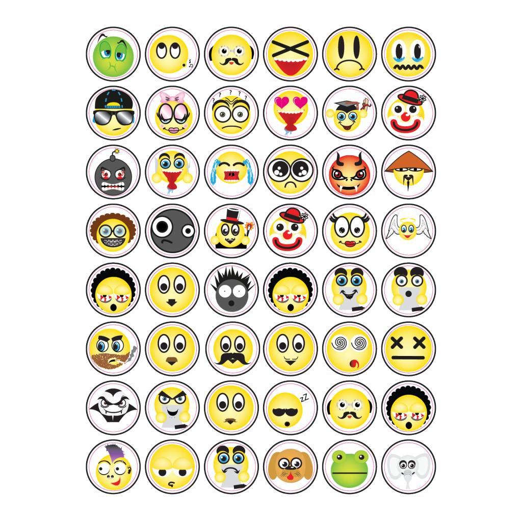 Diverse Smiley Stickers4
