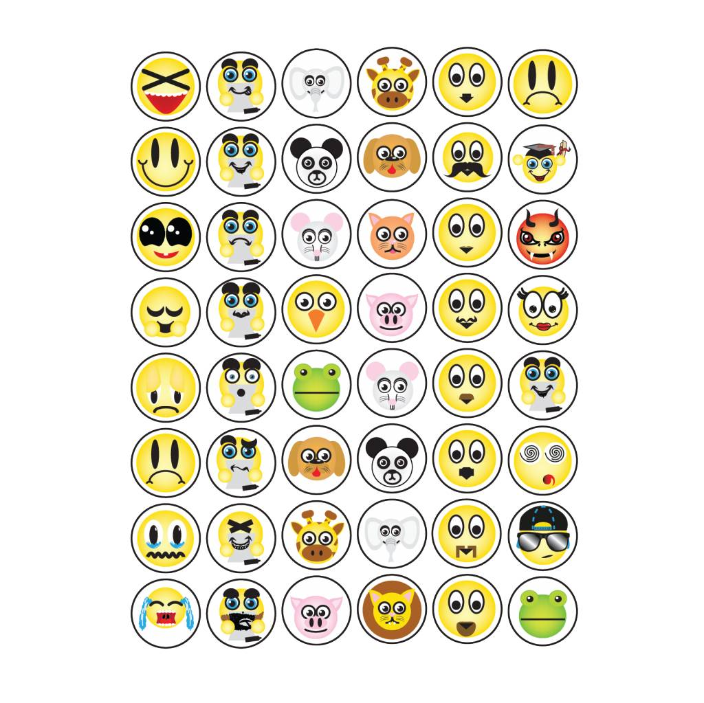 Set Smiley Sticker 2