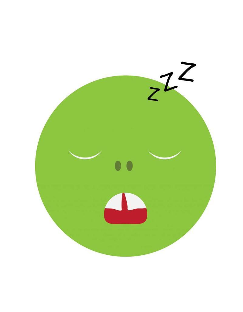 Pegatina smiley durmiendo