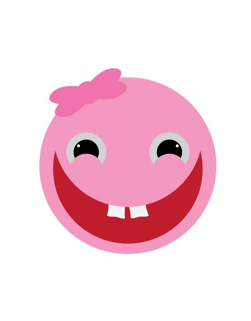Smiley fille autocollant
