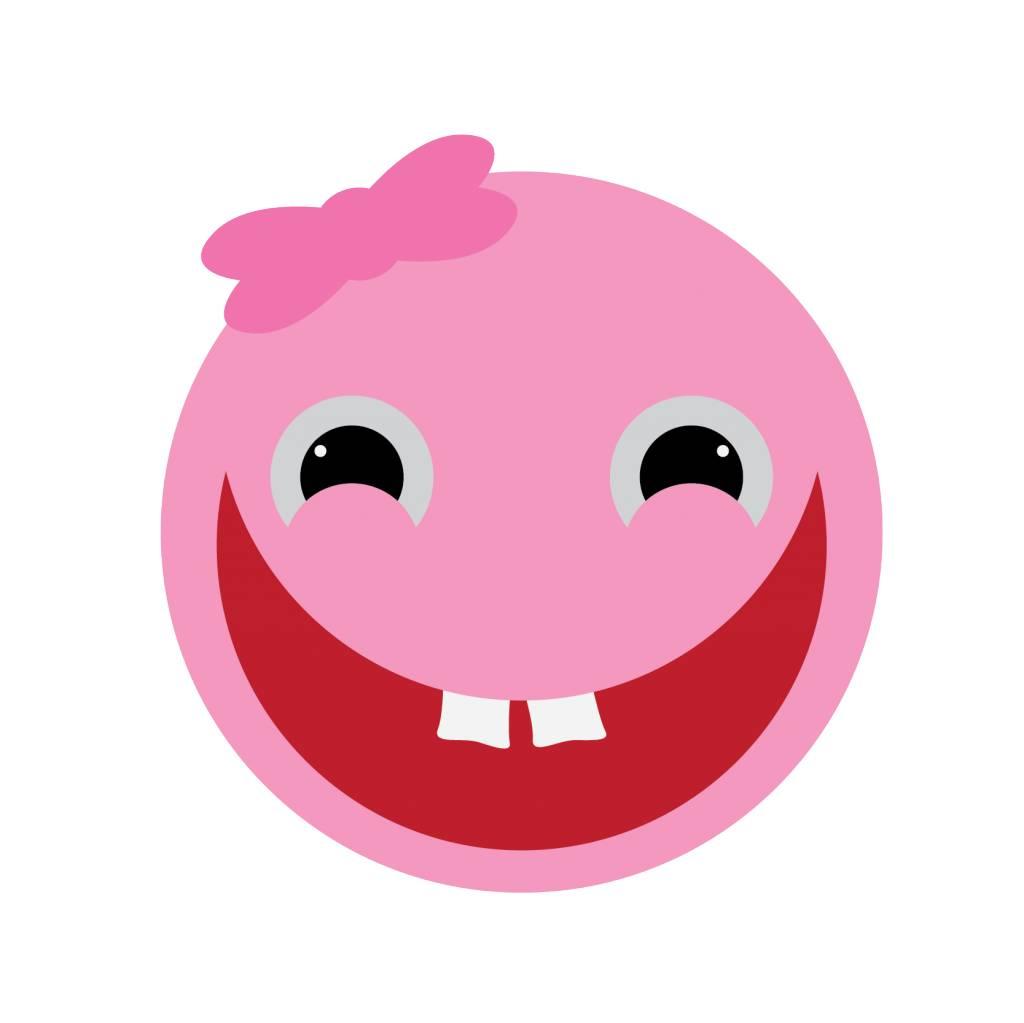 Mädchen Smiley Sticker