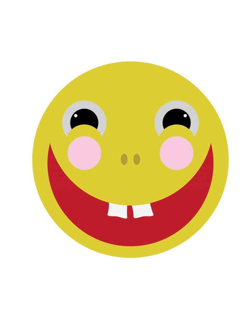 Pegatina smiley sonriendo