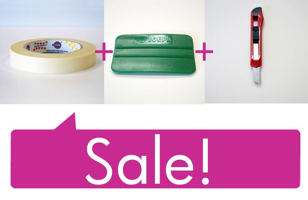 Set price: Tape - Spatula - Snap-off blade
