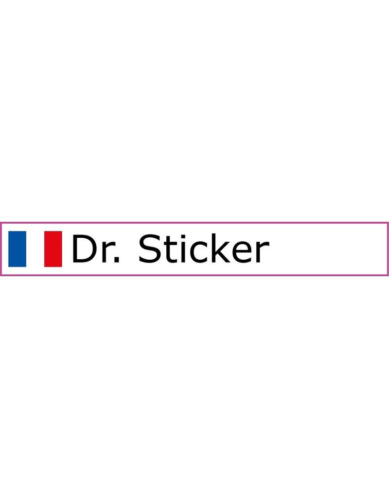 Personalisierter Fahrradsticker - Französische Flagge