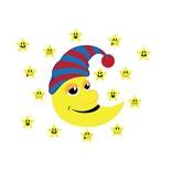 Kinderzimmer Sticker - Mond & Sterne