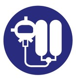 Autocollant machine respiratoire