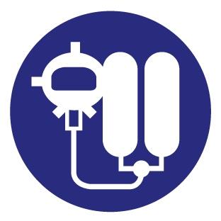 Pegatina máquina respiratoria