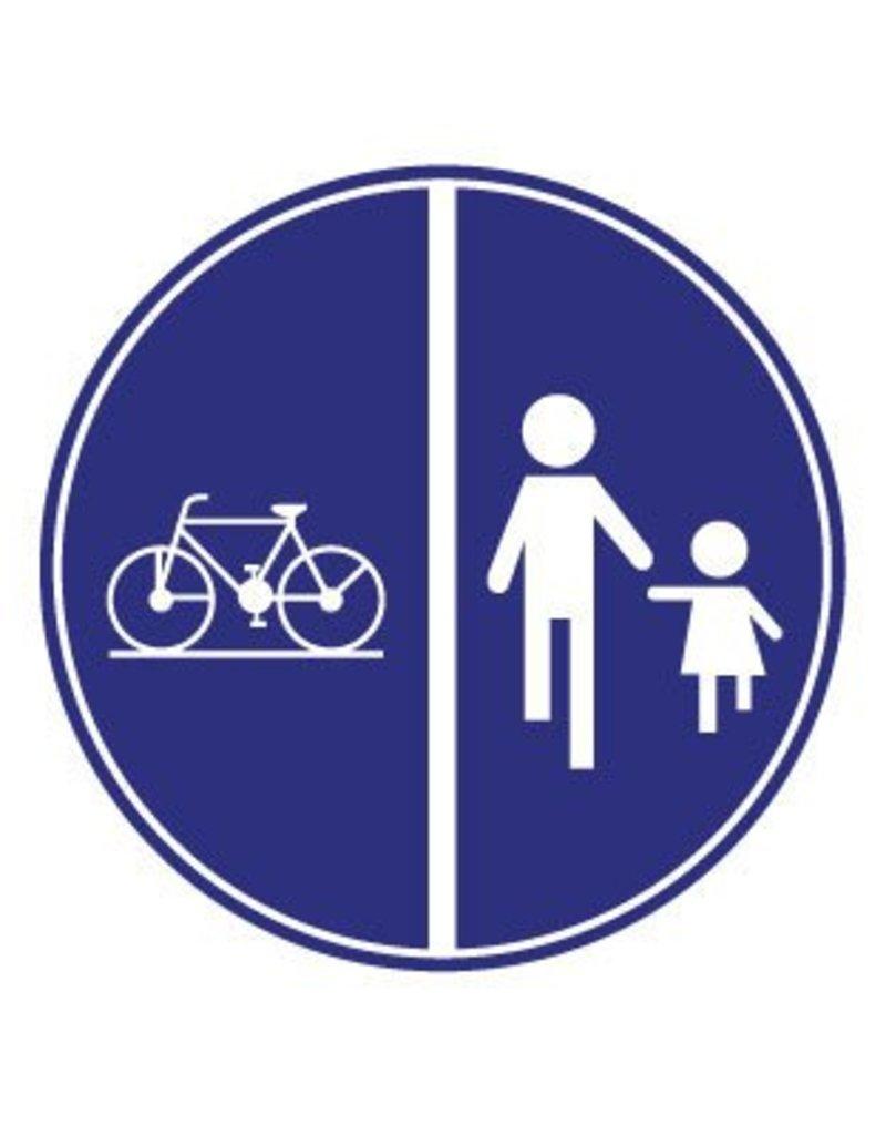 Pegatina bicicleta y peatón
