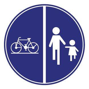 Autocollant vélo et piéton