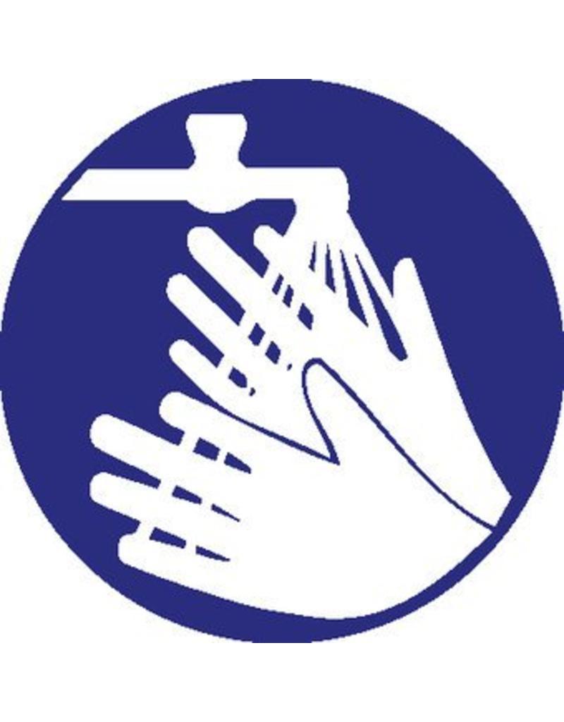 Washing hands sticker