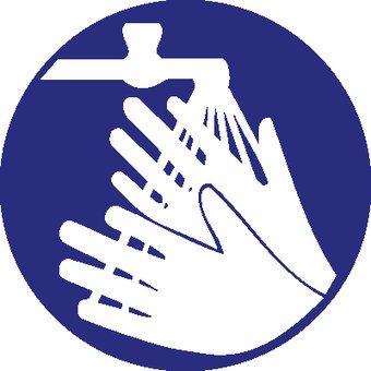 Pegatina lavar las manos