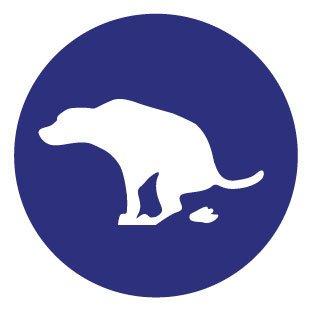 Honden uitlaatplaats Sticker