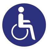 Autocollant fauteuil roulant 1