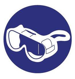 Pegatina gafas de protección