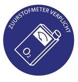 Oxygen meter mandatory sticker