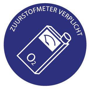 Zuurstofmeter verplicht Sticker