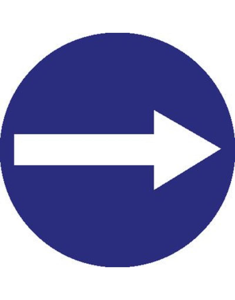 Pegatina flecha blanca