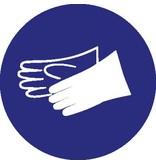 Handschoenen verplicht Sticker
