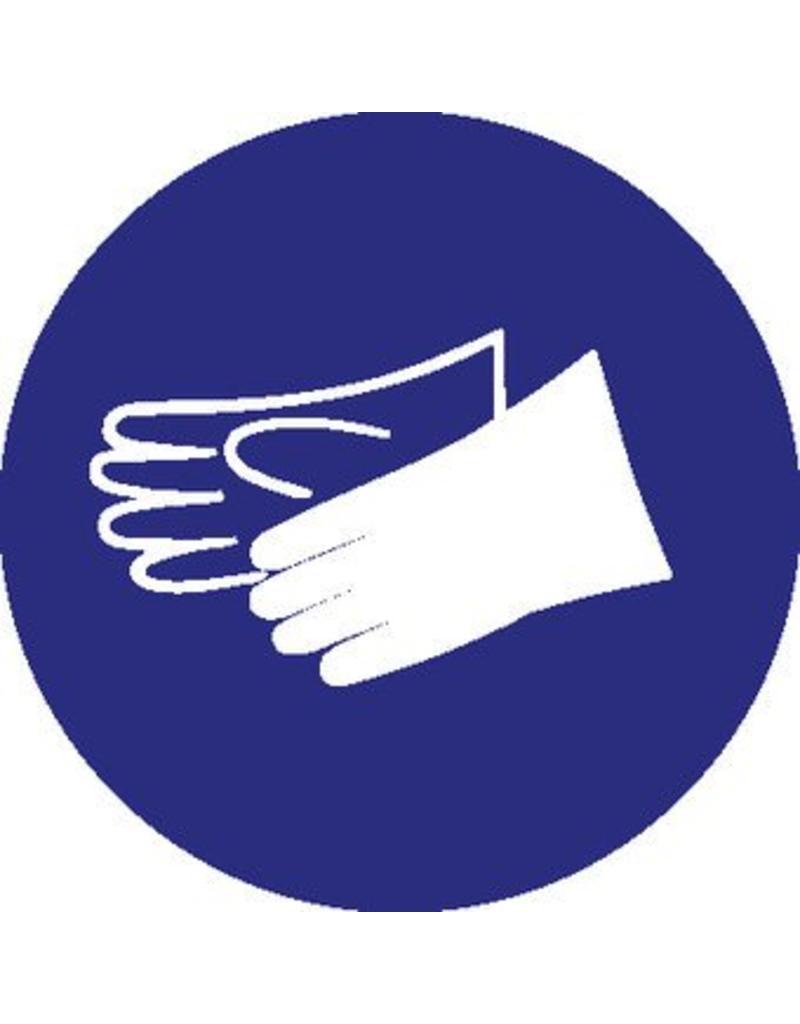 Gloves mandatory sticker