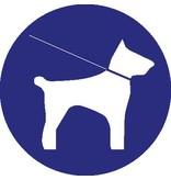 Verplicht honden aan de leiband te houden Sticker