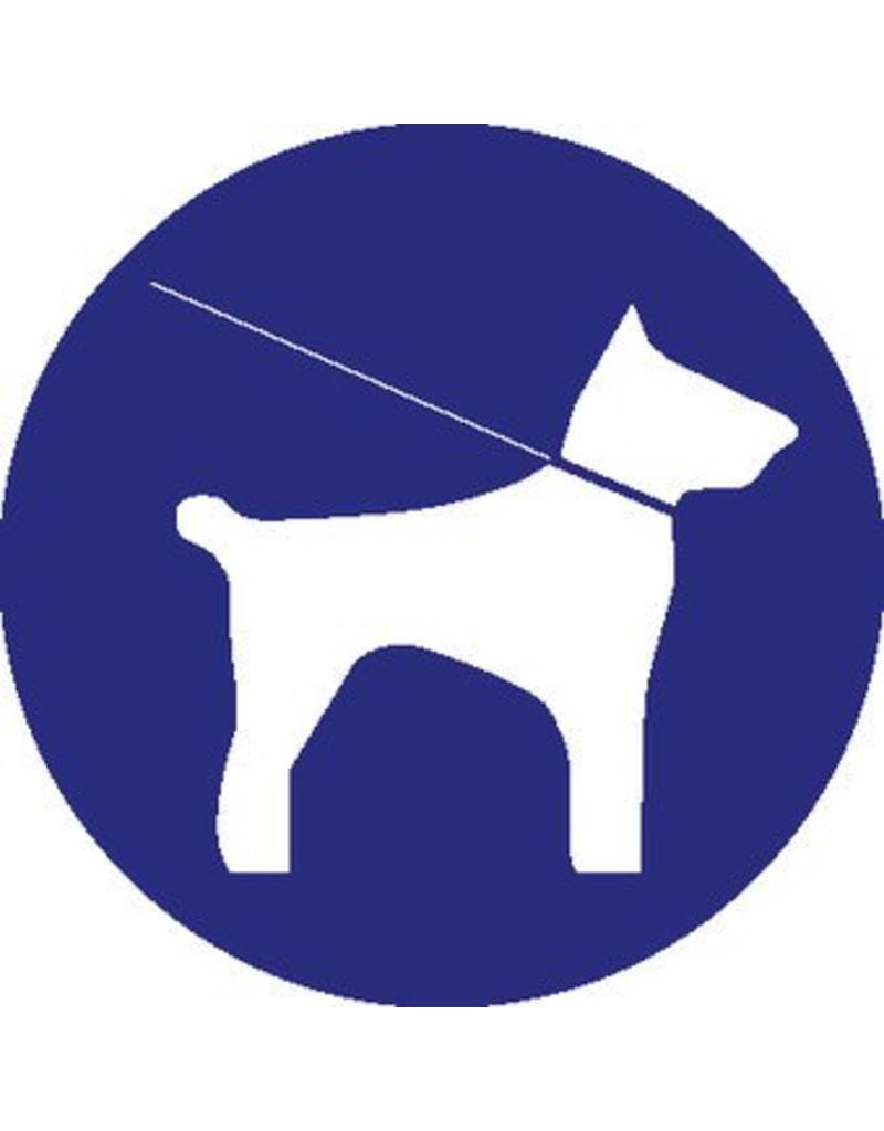 Mandatory to keep dogs to the collar sticker