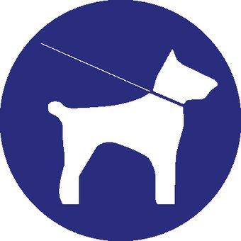 Pegatina mantener al perro con una correa