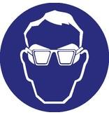 Autocollant protection des yeux obligatoire
