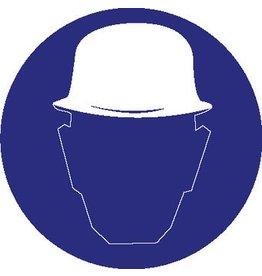 Pegatina casco de securidad obligatorio