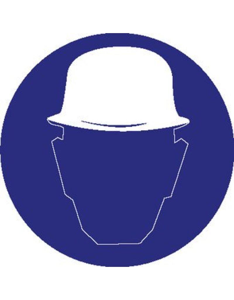 Autocollant casque de sécurité obligatoire
