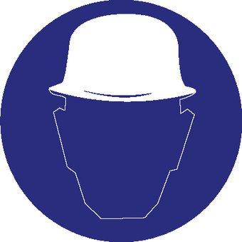 Safety helmet mandatory sticker