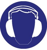 Pegatina protección del oído obligatorio