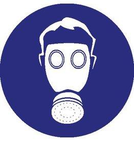 Pegatina protección respiratoria obligatorio