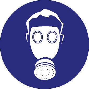 Breathing protection mandatory sticker