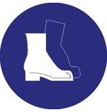Pegatina zapatos de securidad obligatorio