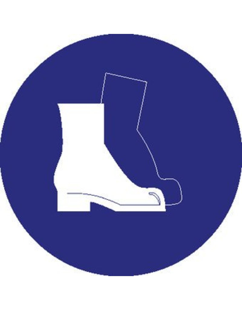 Safety shoes mandatory sticker