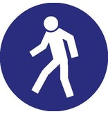 Autocollant passage piéton obligatoire