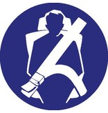 Safety belt mandatory sticker