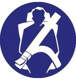 Veiligheidsgordel verplicht Sticker