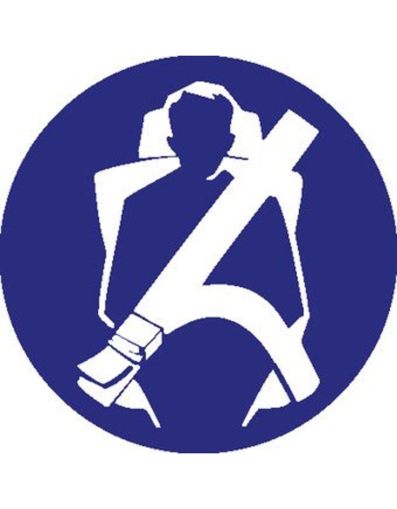 Pegatina cinturón de seguridad obligatorio