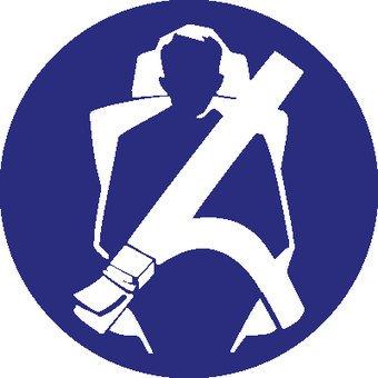Safety belt mandatory sticker