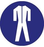 Pegatina traje de protección obligatorio