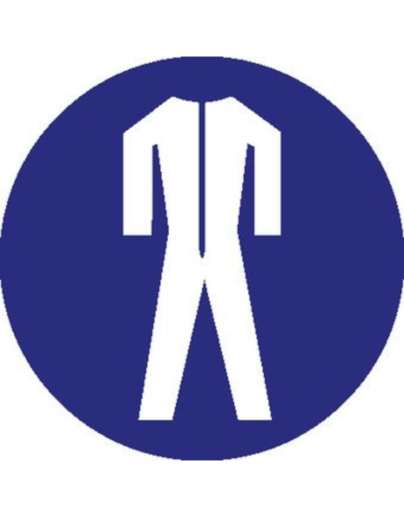 Safety suit mandatory sticker