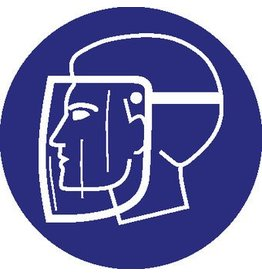 Facial protection mandatory sticker