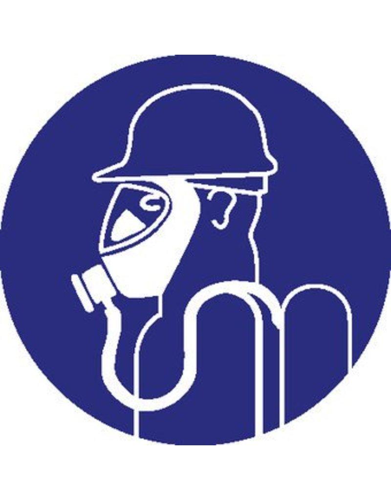 Heavy breathingprotection mandatory sticker