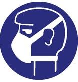 Light breathing protection mandatory sticker