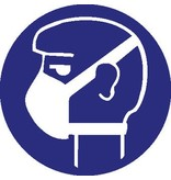 Pegatina protección respiratoria simple obligatorio