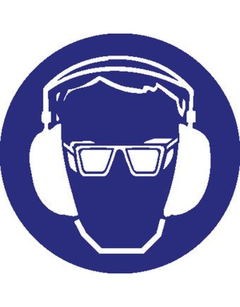 Autocollant protection des jeux et oreilles obligatoire